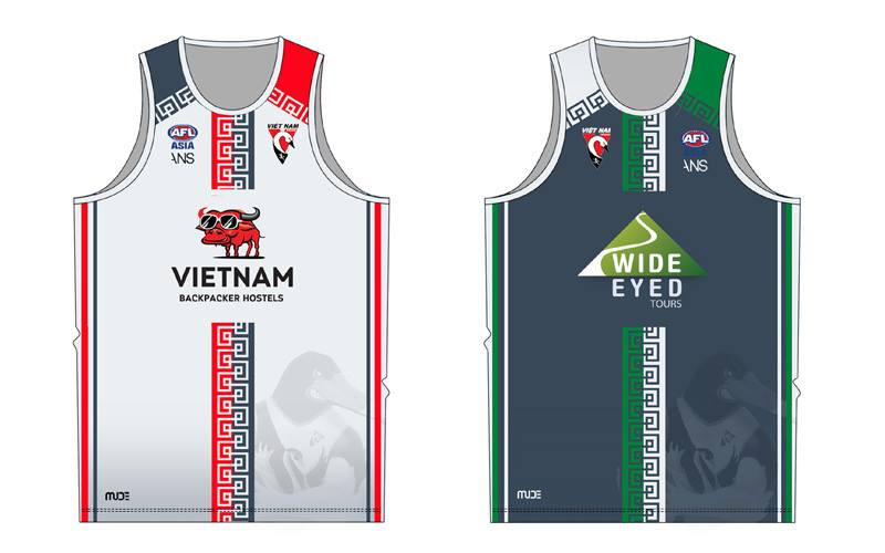 2018 Official training reversible singlets featuring our Major and Signature sponsors!