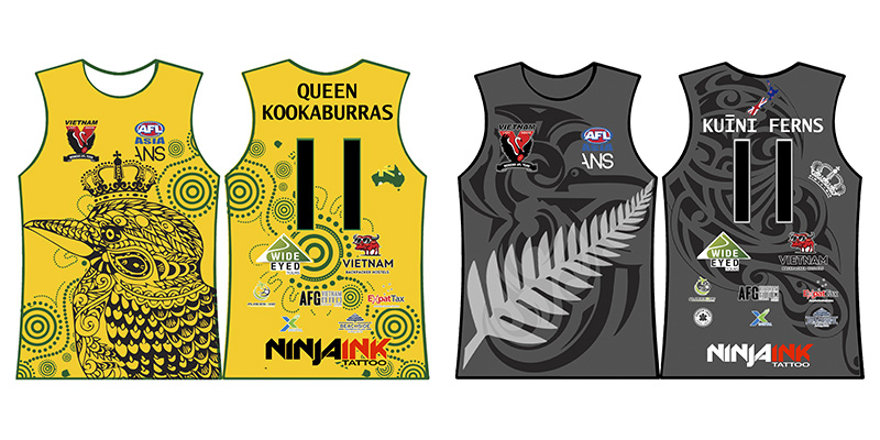 ANZAC Friendship Match 2019 AFLW Playing Jumpers