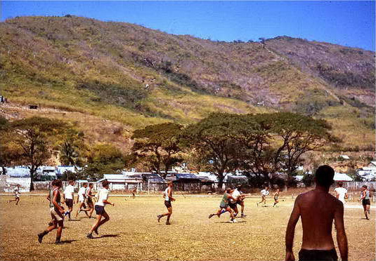1966-1967 Footy in Vung Tau by Kevin Lewin