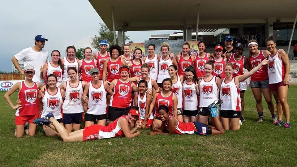 AFL Asian Champs 2016 AFLW Game
