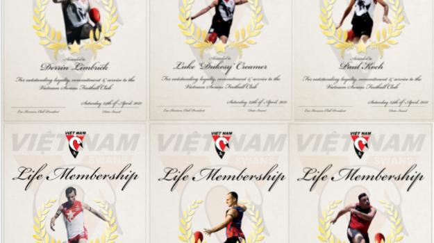 6 Life Members Inducted in Vung Tau in 2021